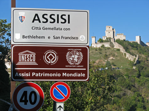 Maps of Assisi Italy