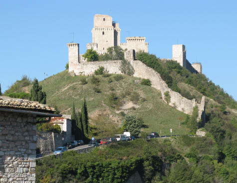 Hilltop Location of Assisi Castle