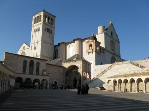 San Francesco Basilica Lower Courtyard